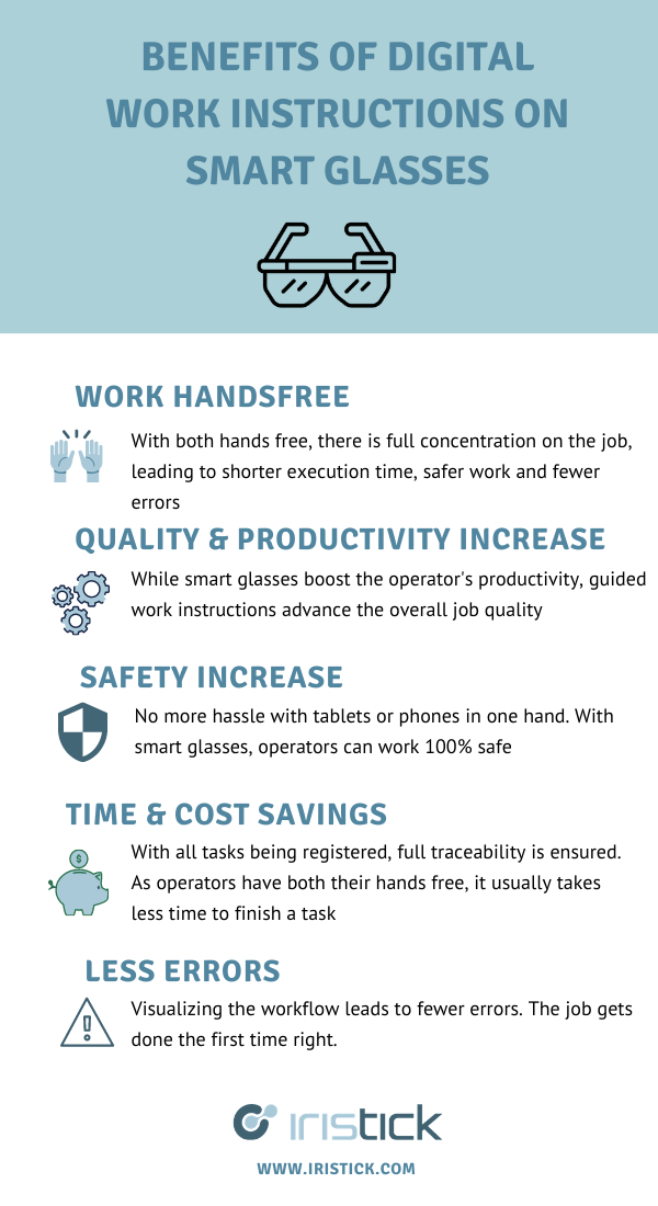 Benefits of digital work instructions on smart glasses