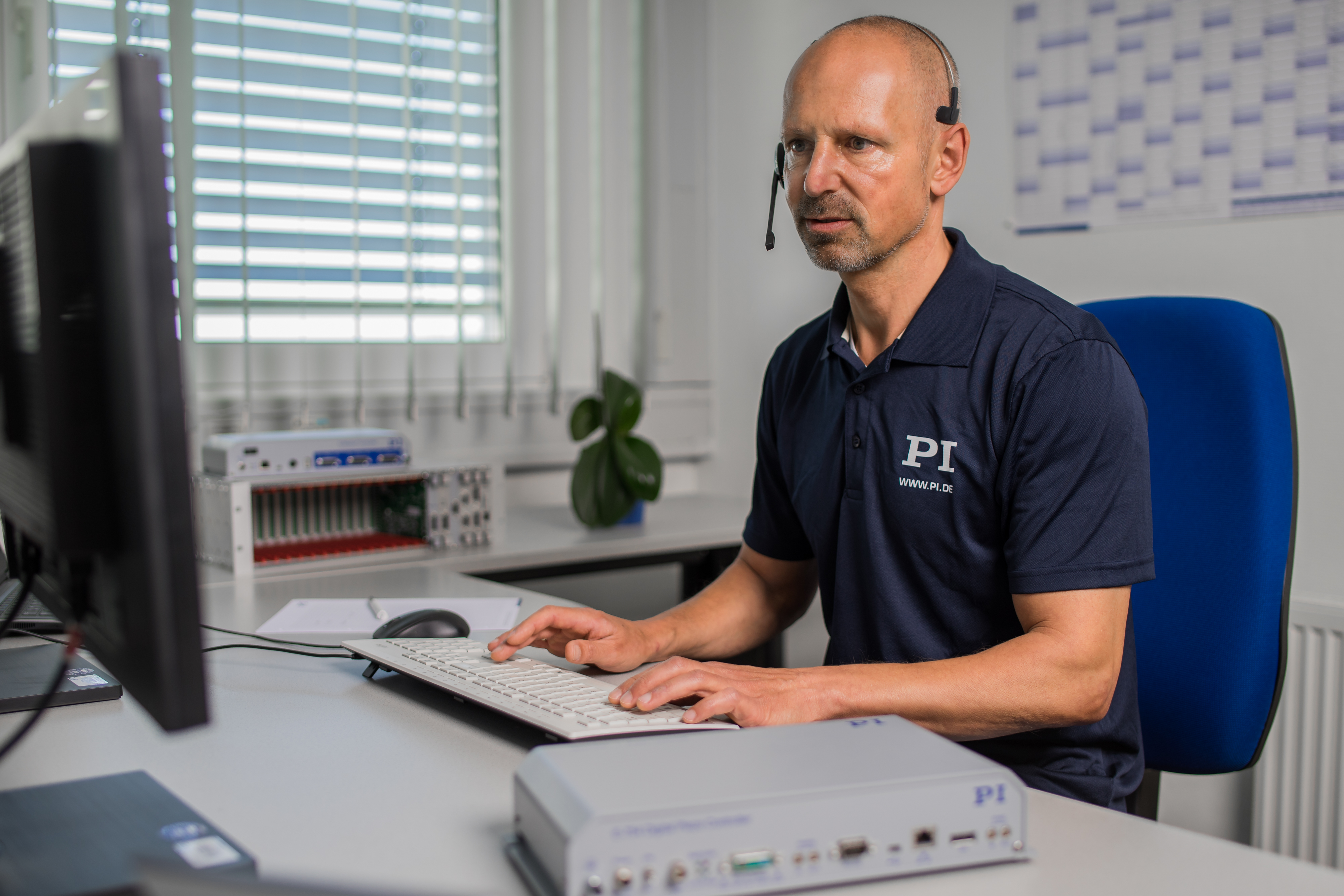 PI Group's service engineer providing remote support in real-time